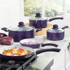 8-Pc. Purple Cereco® Ceramic Cookware Set