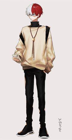 Boku no Hero Academia {My Hero Academia} - Todoroki Shouto Boku No Academia, My Hero Academia Shouto, My Hero Academia Episodes, Hero Academia Characters, Chibi, Todoroki Cosplay, Cute Anime Guys, Boku No Hero Academy, Mode Outfits