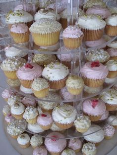 A Cupcake Tower!!!! Champagne Cupcakes, Princess Birthday, Mini Cupcakes, Maid Of Honor, Alice In Wonderland, Party Planning, Wedding Stuff, Food And Drink, Tower