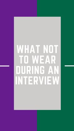 Making a good first impression on your interviewer is extremely important. Learn what to leave in your closet as your are picking out your interview outfit! Special Education Jobs, Interview Dress, Learning, Outfit, How To Wear, Closet, Outfits, Armoire, Studying