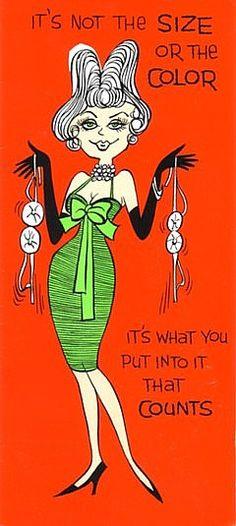 1960's Naughty (Joke) Birthday Card, via MADsLucky13 on Flickr.