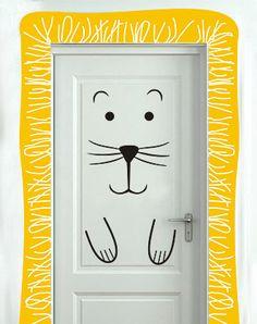 Door decor Wall Decal and Vinyl Stickers by DesignStickersStore