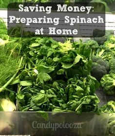 Saving Money by Preparing Spinach at home is great budget saver!