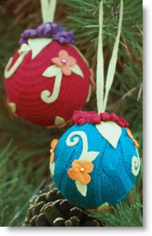 Felt Ornaments wrapped in an old sweater?
