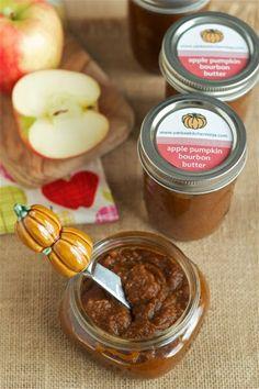 Slow cooker bourbon apple pumpkin butter -- so simple to make in the crockpot, using fresh pumpkin. Apple Butter Canning, Bourbon Recipes, Butter Spread, Pumpkin Butter, Fall Treats, Canning Recipes, Sweet Desserts, Fall Recipes, Favorite Recipes