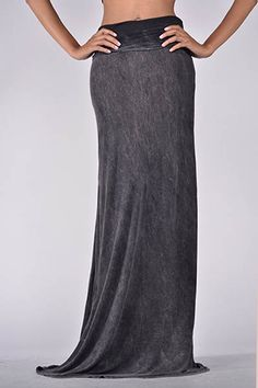 folded over faded maxi skirt 100% Rayon