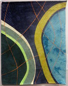 Crevices #6 by Valerie Maser Flanagan:  art quilt