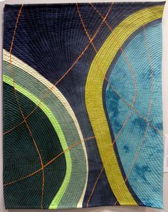 Crevices #6 by Valerie Maser Flanagan:  art quilt