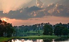 """RTJ Golf Trail - Grand National Grand National, by all reports, was the single greatest site for a golf complex Robert Trent Jones, Sr. had ever seen. Built on 600-acre Lake Saugahatchee, 32 of the 54 holes drape along its filigreed shores. Both the Links course and the Lake course were in the top 10 of Golf Digest's list of """"America's Top 50 Affordable Courses"""" and all three courses at Grand National are listed among the nation's 40 Super Value courses by Golf Digest's """"Places to Play""""…"""