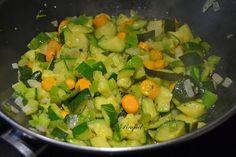 Mi Diversión en la cocina: Fideos chinos de arroz con verduras y gambones