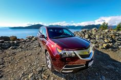 Photos of the Acura MDX Tech Edition, Dark Cherry Pearl. Vancouver Photography, Wheels, Sky, Heaven, Heavens