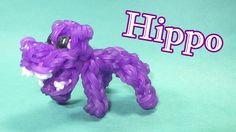 Rainbow Loom Charms: HIPPO: How To Design / Tutorial (DIY Mommy) Use about 187 bands to make body