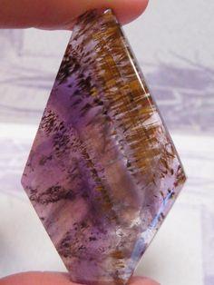 cacoxenite and amethyst in quartz