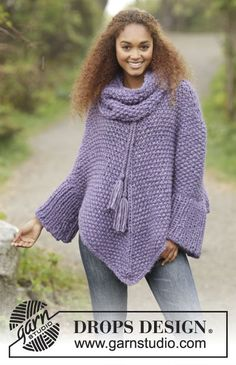 Lavender Grove by DROPS Design. Free #knitting pattern