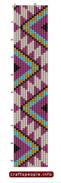 "Indian Bead-Weaving Patterns: Chain-Weaving Designs, Bead Loom Weaving, & Bead Embroidery - An Illustrated ""How-To"" Guide Seed Bead Patterns, Peyote Patterns, Weaving Patterns, Cross Stitch Patterns, Cross Stitches, Bead Loom Bracelets, Beaded Bracelet Patterns, Mochila Crochet, Motifs Perler"