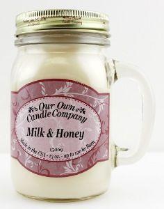 "Mason jar OUR OWN CANDLE COMPANY ""MILK&HONEY"""