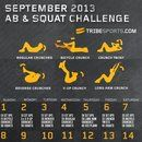 September 30 Day Ab and Squat Calendar// So like, I know this is geared towards September and all, but here's my theory. I can do these ab workouts every day during the month of October, then on the 31st, pig out on candy. Sounds logical to me!