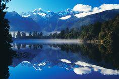 Lake Matheson is het mooiste spiegelmeer van Nieuw-Zeeland