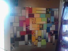 Paint Sample Wall, Paint Samples, College, How To Make, Diy, Painting, Dekoration, University, Bricolage