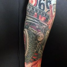 hot rod tattoo sleeve - Google Search