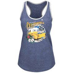 San Diego Padres Majestic Women's 2016 All-Star Game Surfer Truck Racerback Tank Top - Heathered Navy - $18.04