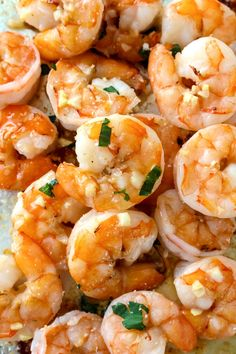 10 Minute Garlic Butter Baked Shrimp is an easy recipe for perfectly cooked, garlicky, buttery shrimp that is baked on a sheet pan in just 10 minutes! Fish Recipes, Seafood Recipes, Gourmet Recipes, Cooking Recipes, Recipes For Shrimp, Seafood Meals, Recipies, Vegan Recipes, Clean Eating Snacks