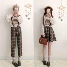 Top Japan Fashion & Korea Fashion & Asian Fashion Clothes And Accessories. Harajuku Fashion, Kawaii Fashion, Lolita Fashion, Cute Fashion, Vintage Fashion, Fashion Outfits, Vintage Style, Outfits Kawaii, Kawaii Clothes