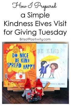 Simple ways to encourage kindness on Giving Tuesday (or any time) with the Kindness Elves; perfect as an introduction to kindness throughout the holiday season - Bits of Positivity Character Education, Character Development, Christmas Activities For Kids, Kids Christmas, Kindness Elves, Kindness Projects, Giving Tuesday, Parenting Quotes, Raising Kids