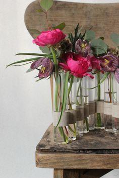 tuto vase tubes essais faon ts ts par poppy figue flower - Decoration Tube A Essai Mariage