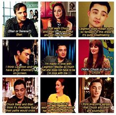 Oh chuck, everyone does believe you're soulmates ❤ I love all of this #ChairGossipGirl