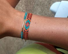 Handmade Beaded Jewelry, Earrings Handmade, Beaded Bracelets, Loom Bracelet Patterns, Bead Embroidery Patterns, Brick Stitch, Loom Beading, Bead Weaving, Bracelets