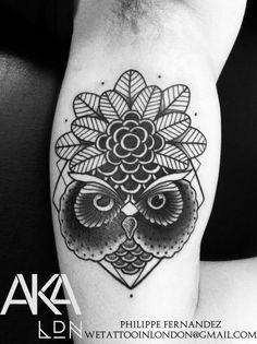 owl by philippe fernandez #tattoos