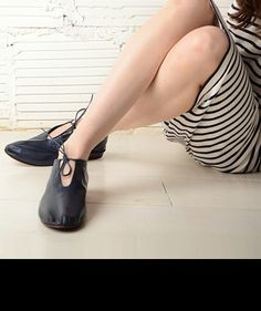 Leather Flats by Martiniano