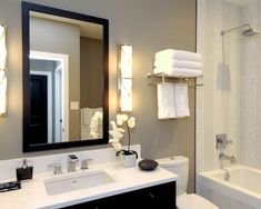 Contemporary Bathroom Lighting Design, Pictures, Remodel, Decor and Ideas
