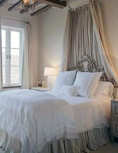 Sweet & Romantic Bedroom Colors - Elegant French Country - Click Pic for 42 Romantic Master Bedroom Decor Ideas