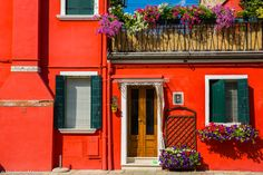 Burano by Stéphanie Masson on 500px - Colorful house facade in Burano, Venice.