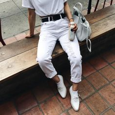 all white errything #outfit #tumblr