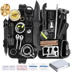 Emergency Survival Kit, Survival Tools, Wilderness Survival, Camping Survival, Survival Knife, Survival Prepping, Camping Gear, Survival Quotes, Camping Hacks