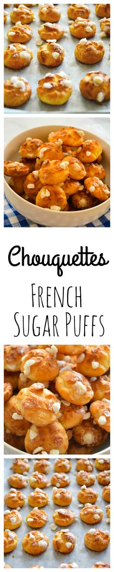 Chouquettes (aka French Sugar Puffs) are a delicious snack or dessert! Easy to make but impressive! thehungrytravelerblog.com