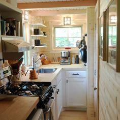 The cozy loft bedroom of the Appalachian Tiny; a 250 sq ft home.