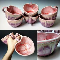 いいね!634件、コメント31件 ― Sarah Beth Elkinsさん(@sarahbethpottery)のInstagramアカウント: 「Sweetheart Mugs  #fortheoneyoulove #lovemugs #sweetheart #mugs #muglife #coffee #cappuccino…」