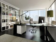classy modern home office design. Design Ideas Home Office Decorating Diy Licious with Black Wooden  Tables and Big White Cabinets too Beautiful Tiled Floor Room Decoration that 17 Classy With A Statement