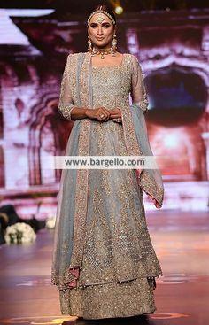 Amazing custom bridal lehenga for Indian & Pakistani brides Bridal Dresses 2017, Asian Bridal Dresses, Asian Bridal Wear, Indian Bridal, Party Dresses, Designer Bridal Lehenga, Bridal Lehenga Choli, Designer Wedding Gowns, Pakistani Wedding Outfits