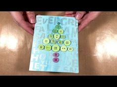 How to Make a Shimmery Button Christmas Tree Card - YouTube