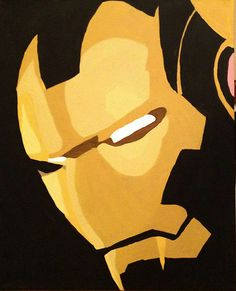 Iron Man Custom Hand Painted Acrylic on Canvas by Taylorpaints, $50.00