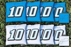 Cornhole Bag Set, Corn-Filled - NASCAR #10 Danica Patrick