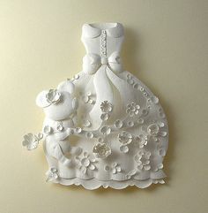 Wedding parquet + bow big skirt, super beautiful paper-cut wedding dress
