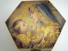 Mother and child keepsake box, Virgin Mary and Jesus baby, motherhood art, Mother box, Madonna child blessed, prayer boxes, jewelry case #mothersdaygift #religion #christian #jesus #maternity