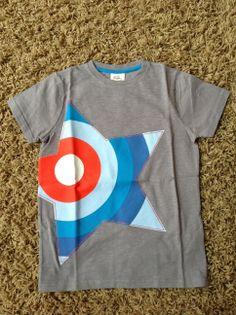 9-10, Steele / Star Graphic t-shirt - MiniBoden (2014).