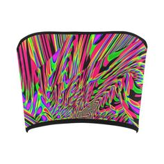Neon Acid Waves Bandeau Top | EDM Rave Wear | BigTexFunkadelic     #BigTexfunkadelic #edc #edm #ravewear #bandeautop #neon #style #summer Edm, Bandeau Tops, Festival Fashion, Rave, Aesthetics, Design Inspiration, Stylish, Womens Fashion, Collection